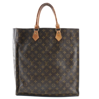 Louis Vuitton Sac Plat in Monogram Coated Canvas and Leather