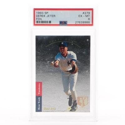 Derek Jeter 1993 Upper Deck SP Foil Premier Prospects Rookie Card PSA Graded