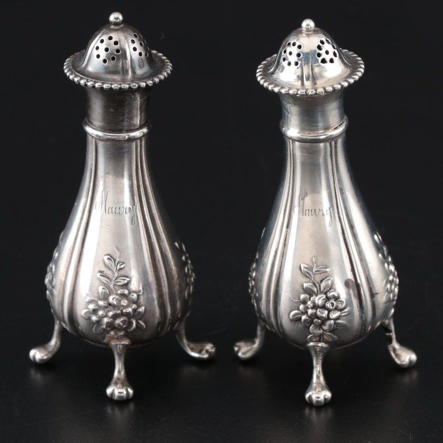 Tiffany & Co. Sterling Silver Salt and Pepper Shakers, 1892–1902
