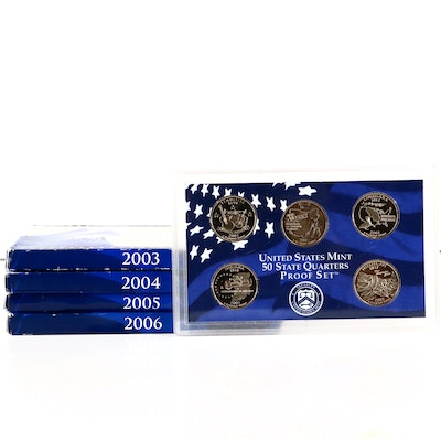 Five U.S. Mint Statehood Quarters Proof Sets