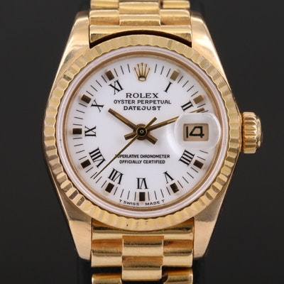 "Rolex Datejust ""President"" 18K Gold Automatic Wristwatch, 1983"