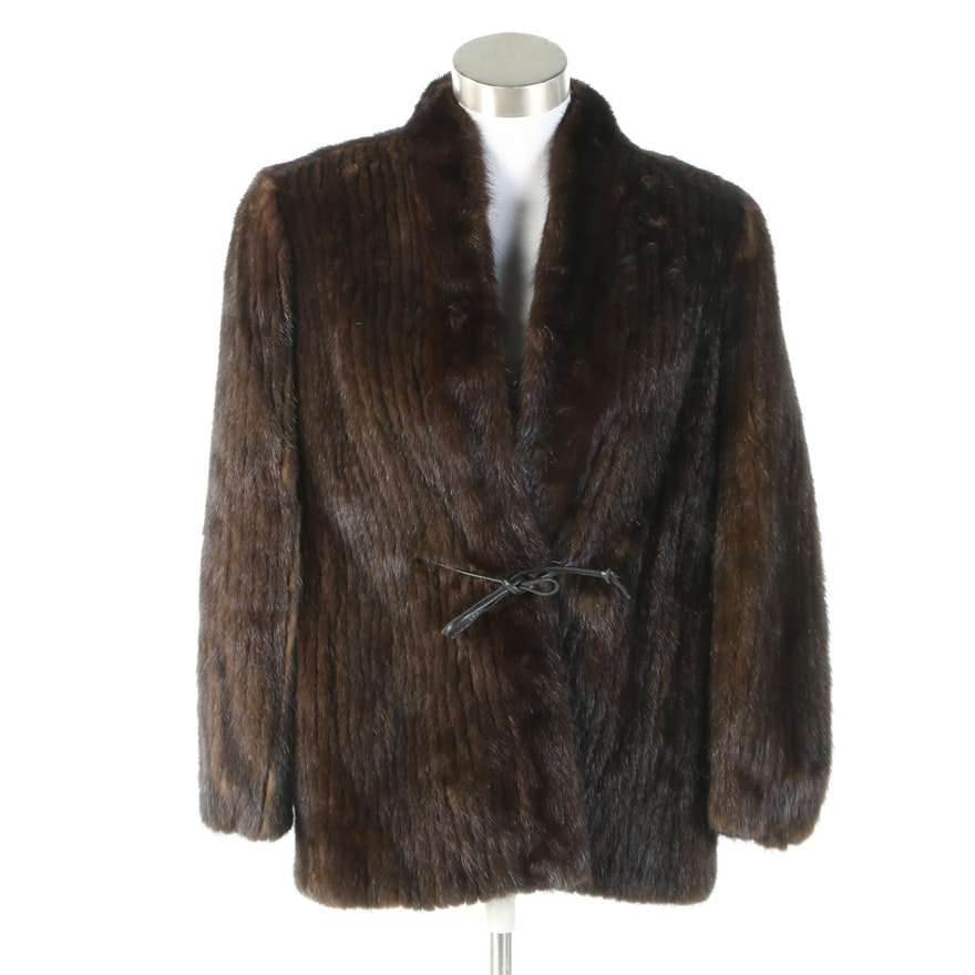 Corded Mink Fur Jacket from Fur Traders