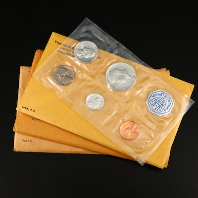Four U.S. Mint Proof Sets Including The Following: 1961, 1962, 1963, and 1964