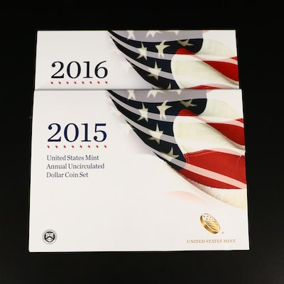 2015 and 2016 U.S. Mint Annual Uncirculated Dollar Coin Set