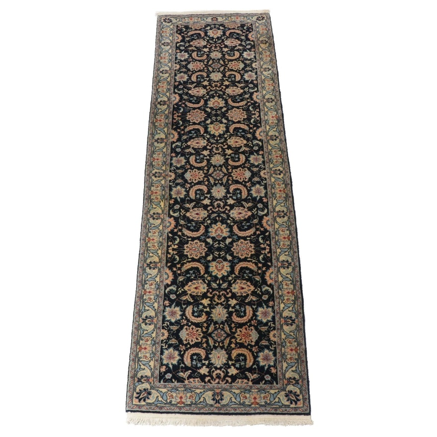 2'6 x 9'3 Hand-Knotted Romanian Persian Tabriz Runner, 1990s