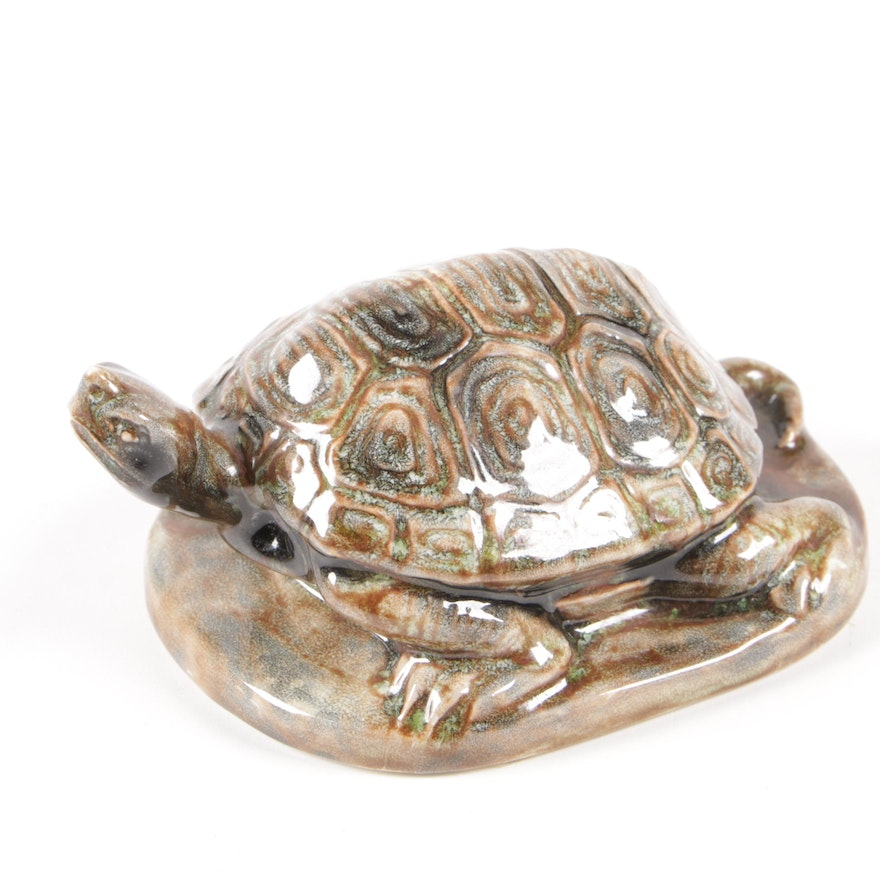 Rookwood Pottery Turtle Paperweight, 1990