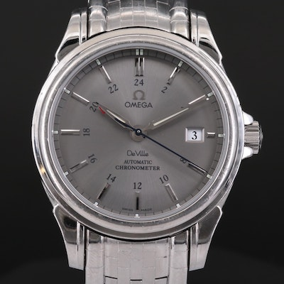 Omega DeVille Co - Axial GMT Stainless Steel Automatic Wristwatch, 2006