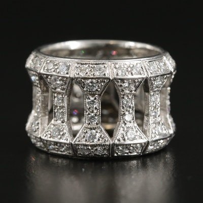 18K White Gold 2.16 CTW Diamond Openwork Eternity Band