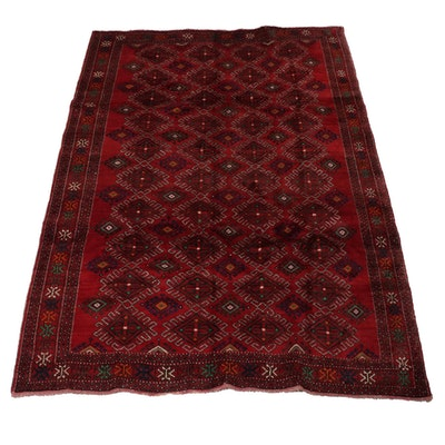 6'7 x 9'7 Hand-Knotted Persian Josheghan Rug, 1970s