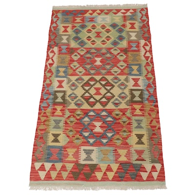 3'4 x 6'5 Handwoven Turkish Kilim Rug, 2000s