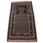3' x 5'8 Hand-Knotted Persian Baluch Prayer Rug, 1980s
