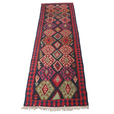 4'6 x 15'0 Handwoven Northwest Persian Kilim Wide Runner, 1940s