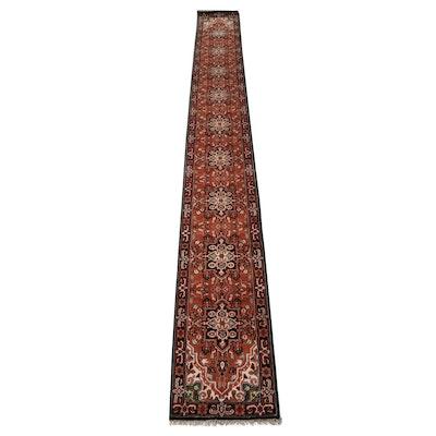 2'5 x 20'1 Hand-Knotted Indo-Persian Heriz Stairway Runner, 2010s