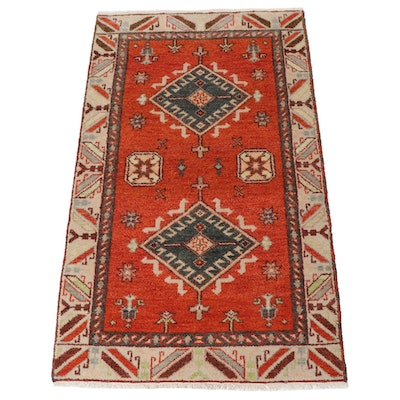 3'1 x 5'2 Hand-Knotted Indo-Caucasian Kazak Rug, 2010s