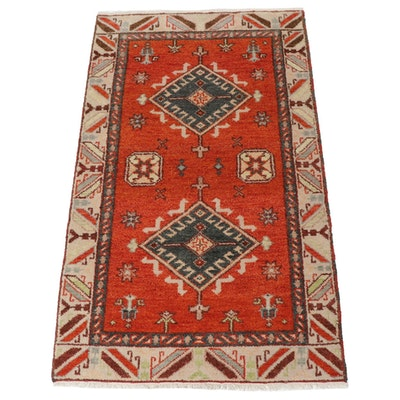 3'1 x 5'2 Hand-Knotted Indo-Caucasian Kazak Rug, 2010s
