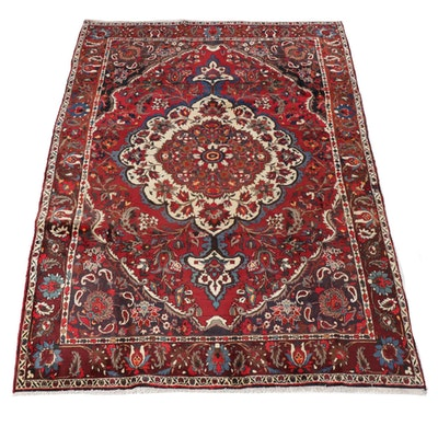 6'7 x 9'10 Hand-Knotted Persian Bakhtiari Rug, 1970s