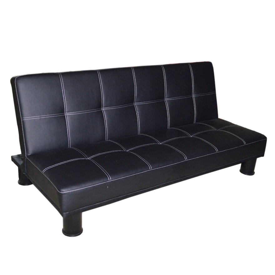 "Crown Mark ""Collin"" Faux Leather Adjustable Sofa"