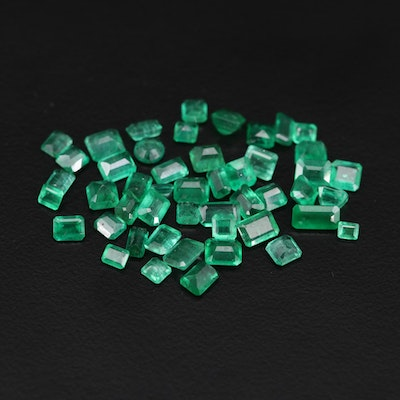 Loose 13.65 CTW Emerald Gemstones