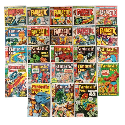 "Marvel ""Fantastic Four"" Bronze Age Comic Books, 23 Issues, Early 1970s"