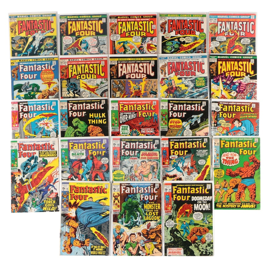 """Marvel """"Fantastic Four"""" Bronze Age Comic Books, 23 Issues, Early 1970s"""