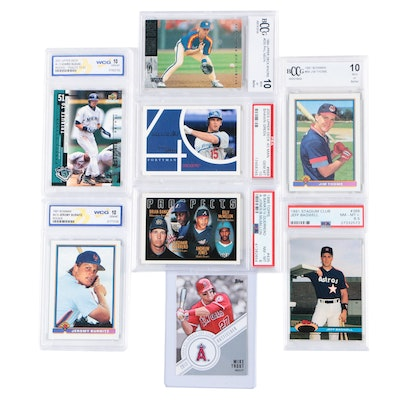 Thome, Guerrero, Bagwell, PSA Graded Rookie Cards With Ichiro And Trout Rookies