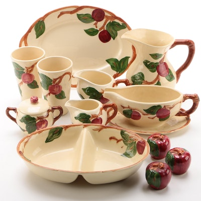 """Franciscan """"Apple"""" Earthenware Serveware and Table Accessories"""