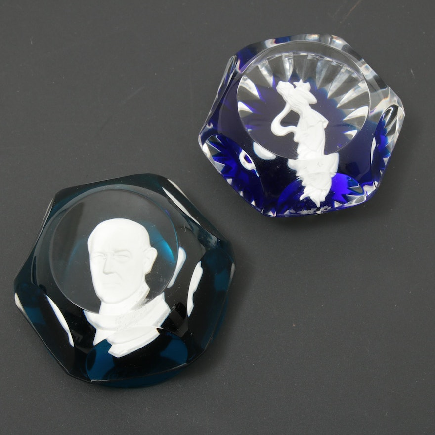 "Baccarat ""Zodiac"" and ""Great Leaders of the 20th Century"" Faceted Paperweights"