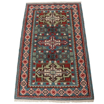 3'1 x 5'2 Hand-Knotted Indo-Caucasian Kazak Rug