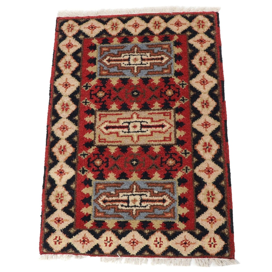 2'1 x 3'1 Hand-Knotted Indo-Persian Serab Rug, 2010s