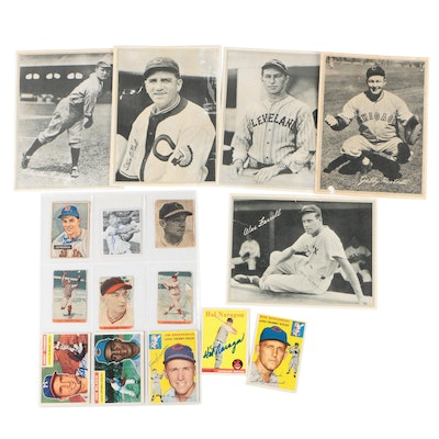 1936 R311 Leather Finish Baseball Cards with Vintage Signed Baseball Cards
