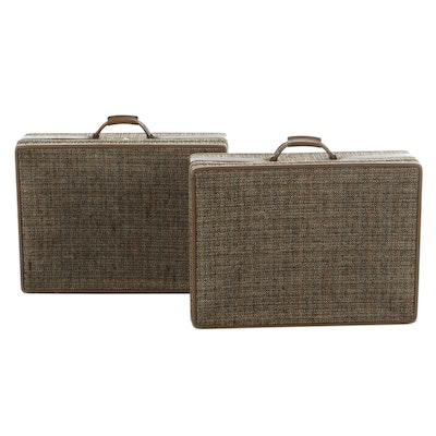 Pair of Hartmann Tweed Suitcases