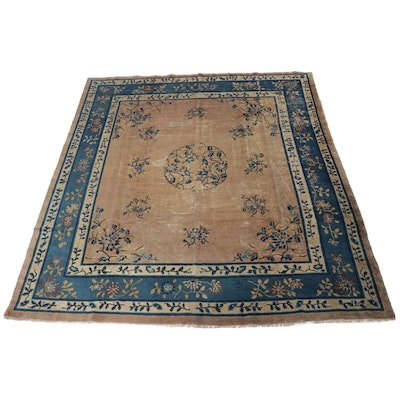 8'9 x 10'1 Hand-Knotted Chinese Peking Room Size Rug, circa 1900
