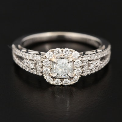 Le Vian 18K White Gold Diamond Ring with Platinum Accents
