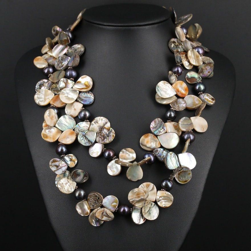 Abalone and Pearl Necklace