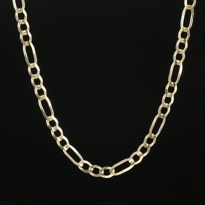 14K Yellow Gold Figaro Chain Necklace