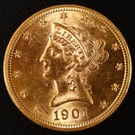 1907 Liberty Head $10 Gold Coin