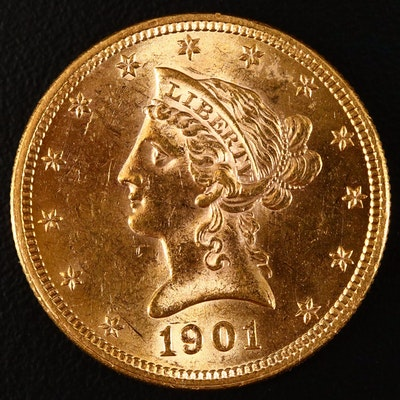 1907 Liberty Head $10 Gold Coin