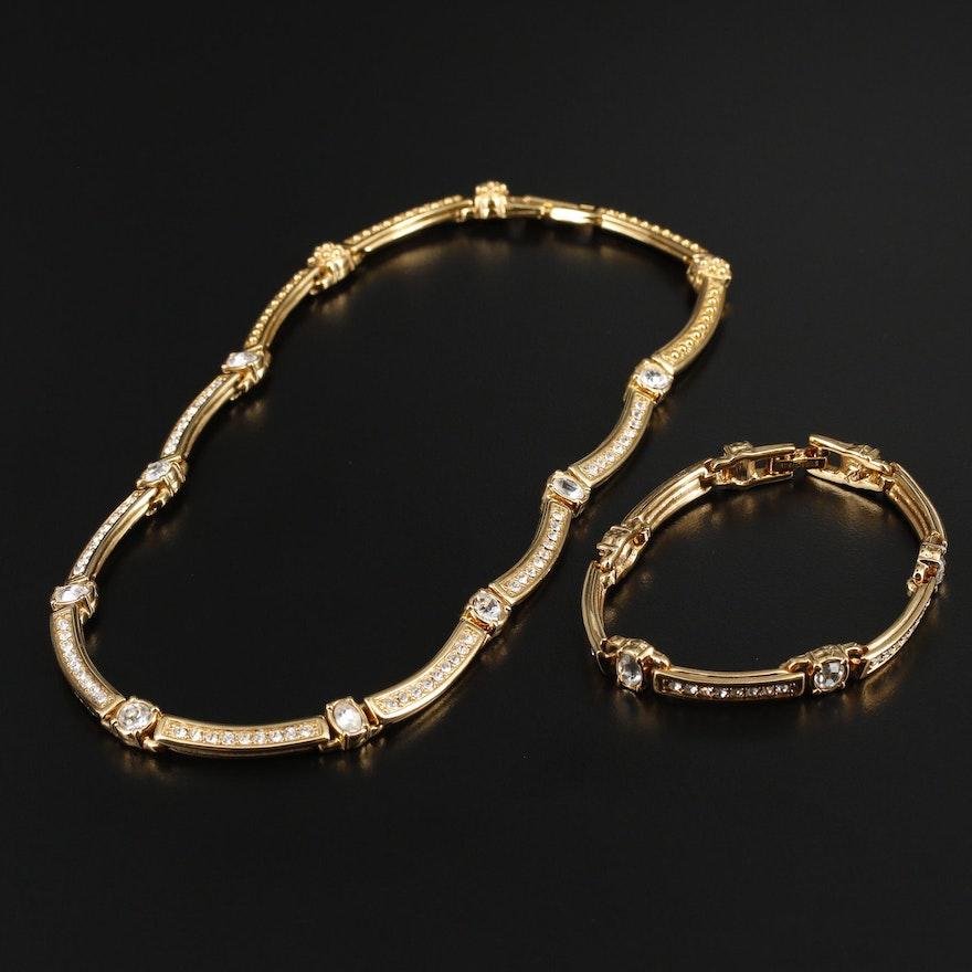 Swarovski Crystal and Rhinestone Jewelry Set