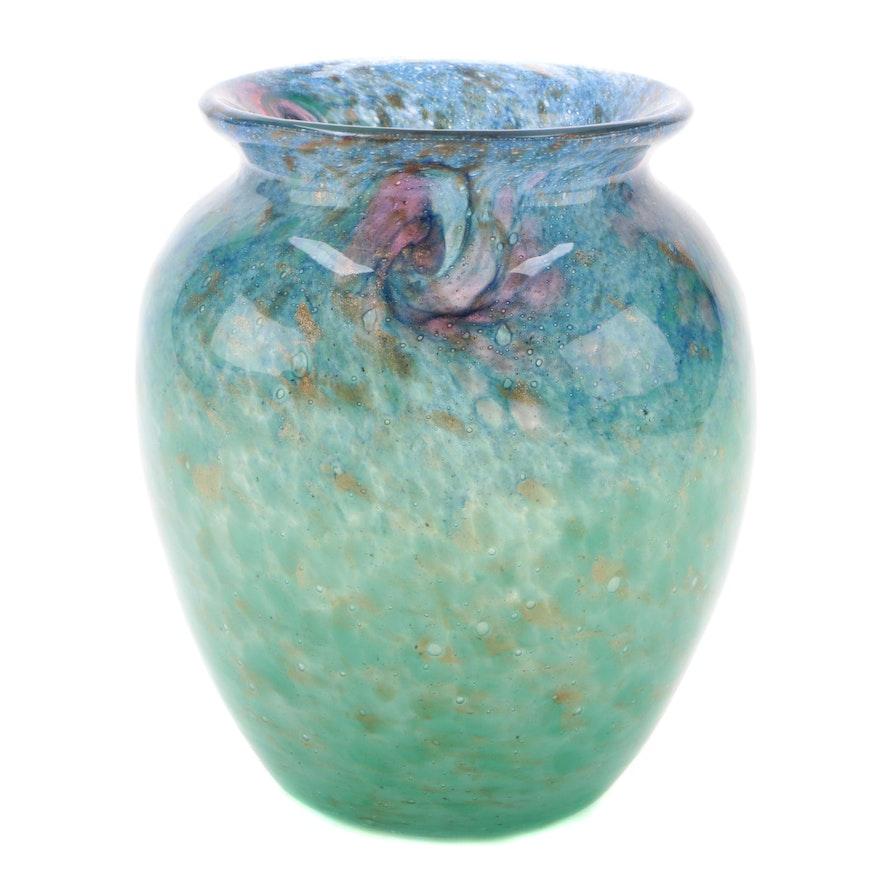 Scottish Monart Art Glass Vase, 20th Century