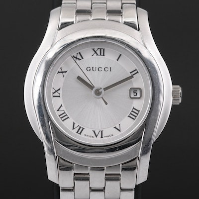 Gucci Stainless Steel Quartz Wristwatch with Date