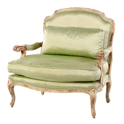 John-Richard Louis XV Style Over-Sized Armchair, Late 20th C.