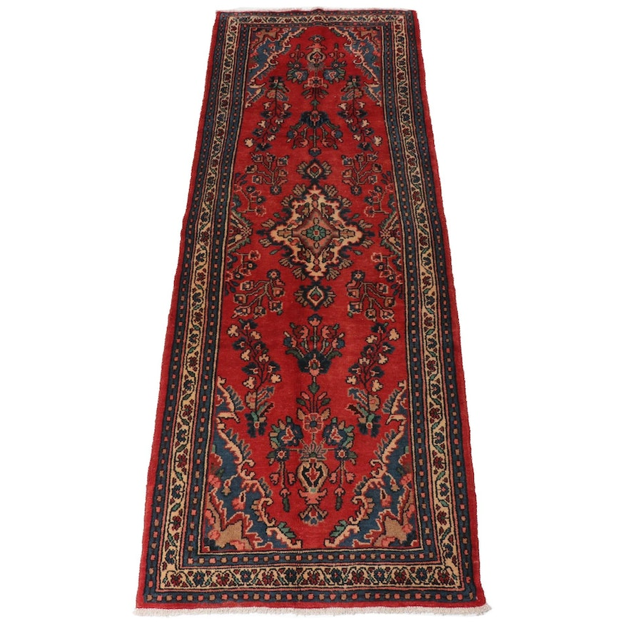 3'7 x 10'8 Hand-Knotted Persian Daragazine Runner Rug, 1970s