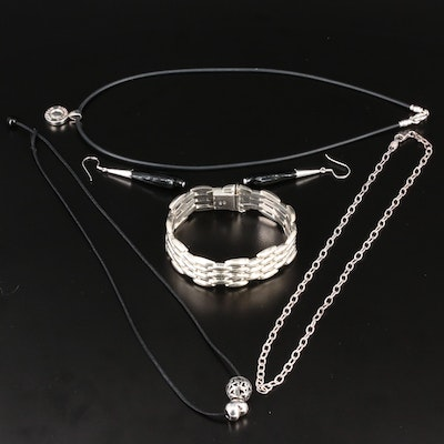 Sterling Jewelry Selection Featuring Panther Link Bracelet