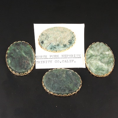 Framed Nephrite Gemstones