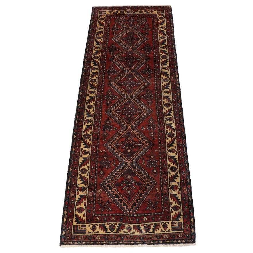 3'5 x 10'1 Hand-Knotted Northwest Persian Runner Rug, 1970s
