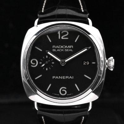 Panerai Radiomir Black Seal Three Days Stainless Steel Automatic Wristwatch