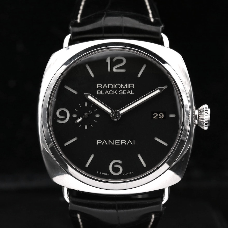 Panerai Radiomir Black Seal Three Days Stainless Steel Automatic Wristwatch