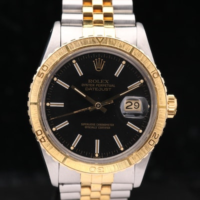 Rolex Datejust Turn O' Graph 18K Gold and Stainless Steel Wristwatch, 1979