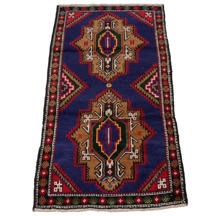 2'9 x 5'2 Hand-Knotted Persian Baluch Rug, Late 20th Century