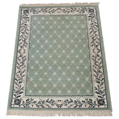 3'11 x 5'10 Power-Loomed Persian Kashan Style Rug